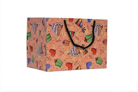 A&A Printed Laminated Paper Bag in Birthday Design(Pack of 10) Size - 6 * 9 * 7 inch