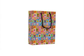 A&A Printed Laminated Paper Bag (Pack of 10) Size- 8 * 6 * 2 inch