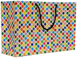 A&A Printed Laminated Paper Bag (8 x 12 x 4inch) - Pack of 10