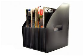 A-Mart  Expanding Magazine Holder for School, Office Hotels Restaurants etc 23 Pockets with Label Tags