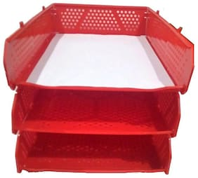 A-Mart  Premium Plastic 3 Layer Paper Tray/Table Organizer for School, Office Hotels Etc. DIY Model