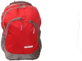 WONDER STAR 35 l Backpack & School bag - Red & Grey