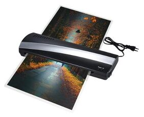 A3 33.02 cm (13 Inch) Width Photo Paper Hot and Cold Thermal Laminator Machine Quick Warm-up Fast Laminating Speed with Pouch Board