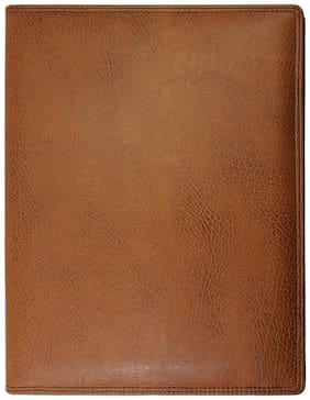 A4 Leatherette Conference folder  (Set Of 1, Tan)