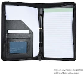 A5 Conference Folder Multiple Pockets Zip Personal File Organiser Portfolio R8F2