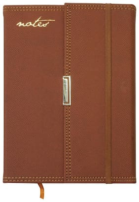 A5 Notebook  (3 FOLD, Brown)