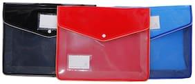 Aahum Sales Flexi Document Case File Folder Set of 4