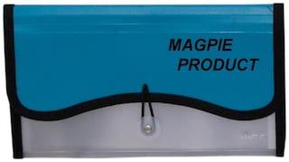 Aahum Sales Polypropylene Transparent Expanding Cheque Book Holder Case Blue Color