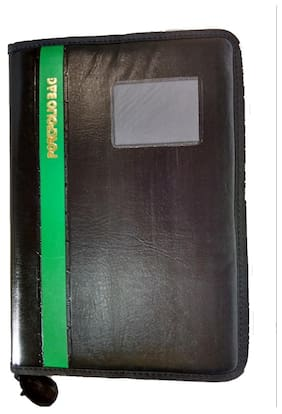 Aahum Sales Portfolio Document File Folder With Green Bold Line (Assorted Strips)