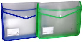 Aahum Sales Flexi Document case with Jumbo Capacity Set of 2 (Assorted color )