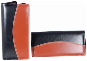 Aahum Sales LEATHERITE CHEQUE BOOK HOLDER (Multicolor) Set of 2