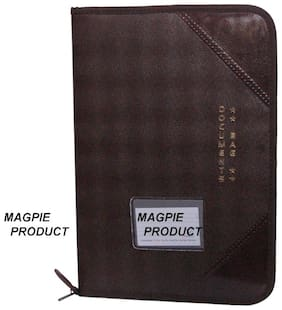 Aahum Sales Faux Leather F/S Executive File Folder Brown