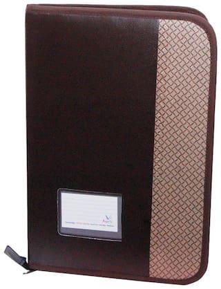 Aahum Sales Faux Leather F/S Executive File Folder Double Colour (Assoted Color)