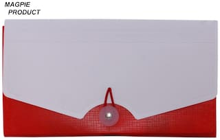 Aahum Sales Polypropylene Check book Expanding Document File Red Color