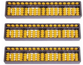 Abacus Tool, Abacus Instrument 17 Rod ( Set of 3) Assorted Colors