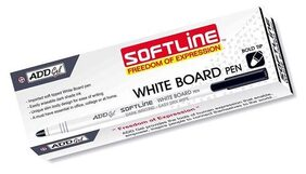 Add Gel Softline White Board Pen (Black;30 Pcs);black