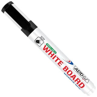 Add Gel White Board Marker Black Set of 20 Markers Pens