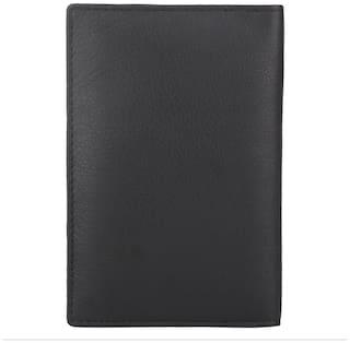 Aditi Wasan Genuine Leather Black Passport and travel document organizer