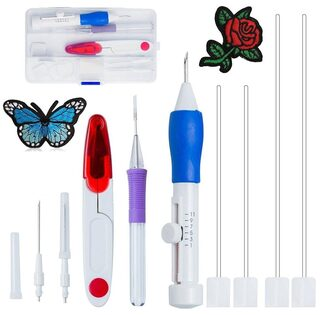Buy Aeoss Magic Embroidery Pen Punch Tool Kit Embroidery Patterns
