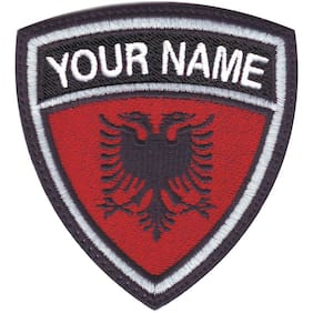Albania Personalized Crest Embroidered Patch