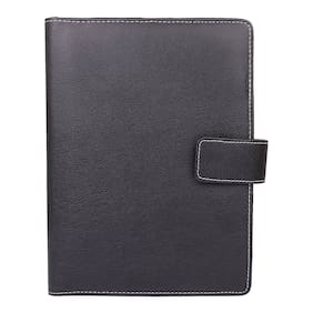 AmazingHind Memo Note Pad, Padfolio, Diary holder,Writing Pad, Conference Pad with Credit-Debit card and Business Card Holder | diary style desk organizer (Black, Size: A5)