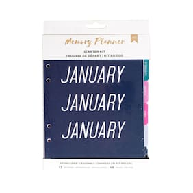 American Crafts Marble Crush Memory Planner Starter Kit - Mixed Color, 60 Pieces
