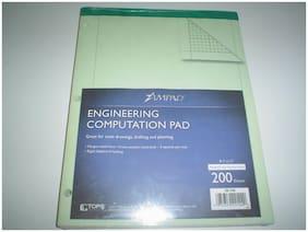 "Ampad Engineer Computation Pad 200 Sheets 8.5"" x 11"" Green 5 Squares per Inch"