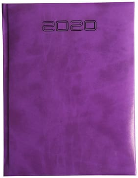 ANAND Rexine Premium Soft Foam 2020 New Year Diary (Nescafe Size - 24.5 x 18 cms) (Color - Purple) (Special Box Packing)