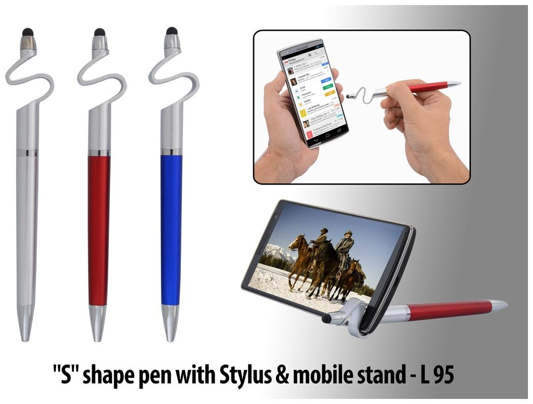 Anmol  S  Shape Ball Pen With Stylus   Mobile Stand  Set Of 3  by Gifts Shoppe