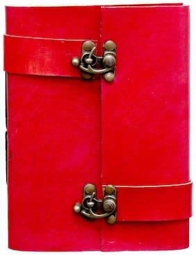 Anshika International Original Twin Lock Handcrafted Notebook/Diary