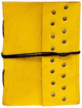 "Anshika International Original Yellow Handmade Handcrafted Notebook/Diary for Girls/Boys/Men/Women/Office/College/Birthday/Gift Size -7""1""5 by"