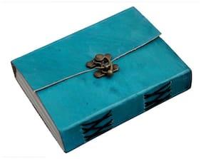 Anshika International Original Ocean Blue Cover C Lock Handcrafted Notebook/Diary