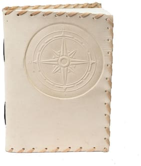 Anshika International Pure Genuine Real Vintage  Leather Handmade paper Notebook Diary - Size of (H) 7 *(L) 5 inch