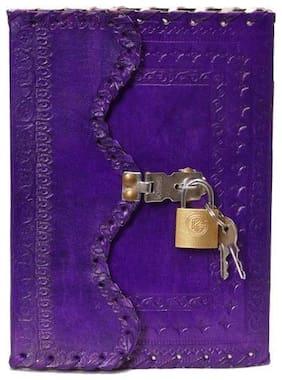 Anshika International hunter leather 7*5 lock n key diary for writing & office use