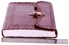 "Anshika International Original Leather Best Lock Handmade Handcrafted Notebook/Diary for Girls/Boys/Men/Women/Office/College/Birthday/Gift Size -10""2""7"