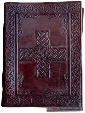 Anshika International Pure Genuine Real Vintage Hunter Leather Handmadepaper Notebook Diary- Size of (H) 7*(L) 5 Brown