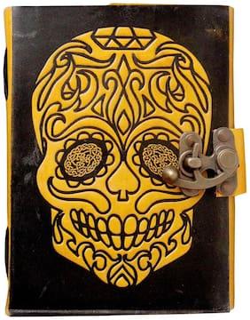 Anshika International Leather Journal Lock Diary Notebook With Premium Paper Diaries