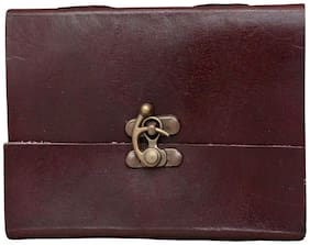 """Anshika International Original Leather Diary/Diaries/Handmade Handcrafted Notebook/Journals with C Lock - Size 6""""4"""