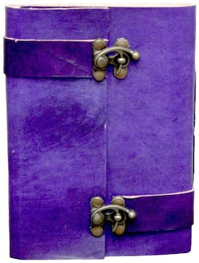 "Anshika International Original Blue With Twin Lock Handmade Handcrafted Notebook/Diary for Girls/Boys/Men/Women/Office/College/Birthday/Gift Size -7""5"