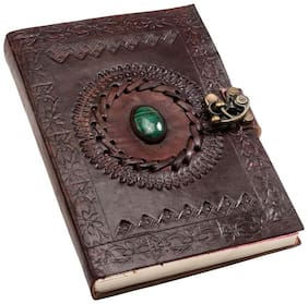 Anshika International Original Leather Handmade paper Diary/Diaries/Handmade Handcrafted Journals  diary