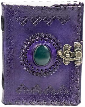 Anshika international Leather Diary Journal Notebook With A Lock Hand Embossed & 100 Unlined Eco-Friendly Pages
