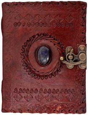 Anshika International Original Leather Handmade paper Diary/Diaries/Handmade Handcrafted Notebook/Journals - Size of (H) 6 *(L) 4 inch