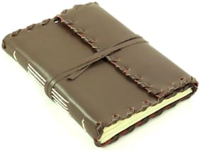 Antique Leather Journal Diary Travel Notebook Sketchbook Retro Rustic Handmade