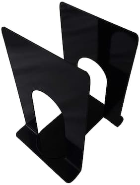 APPUCOCO MS Metal Bookend for Office - 2 Per Pack/Black