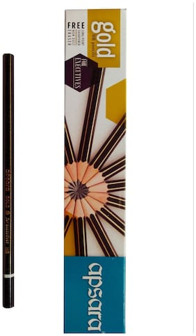 APSARA  GOLD PENCILS PACK OF 100 PENCILS (FREE 10 ERASERS +10 SHARPENER