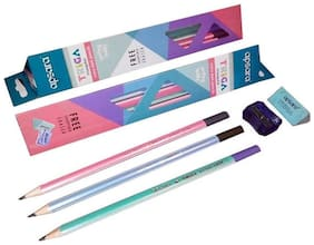 APSARA TRIGA PENCILS (PACK OF 50 PENCILS + 5 FREE SHARPENERS + 5 FREE ERASERS)