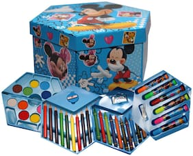 Art Box with Color Pencil, Crayons, Water Color, Sketch Pens - Pack of 46 Pieces