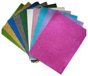 Art & Craft Glitter Foam Sheets (Pack Of 10)