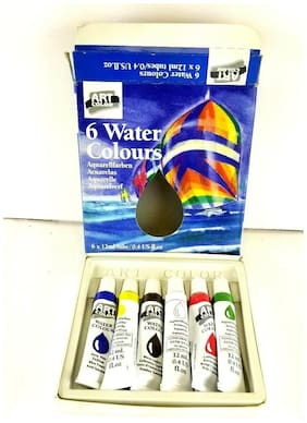 ArtColor 6 Water Colours  6 X 12ml Paint Tubes Watercolor Painting, New Open Box
