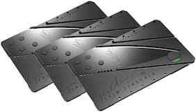 Aryshaa Credit Card Knife Mini Pocket Safety Outdoor Survival Campin (Pack of 3)
